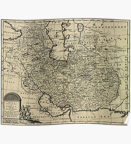 Persia Ancient Map 1747 Poster