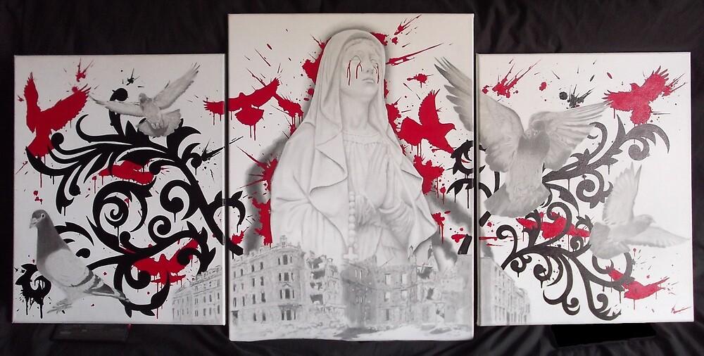 Untitled 3 piece canvas set by asvone