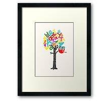 Sleep All Day (Alphabet tree) Framed Print