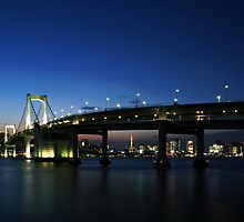 Tokyo Rainbow Bridge by synchroniphoto