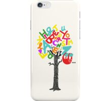 Sleep All Day (Alphabet tree) iPhone Case/Skin