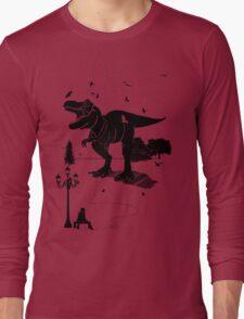 Playtime Dinosaur- Black Long Sleeve T-Shirt