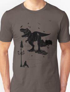 Playtime Dinosaur- Black Unisex T-Shirt