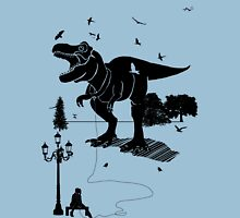 Playtime Dinosaur- Black Unisex T-Shirt