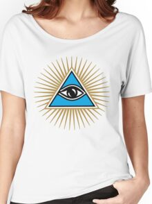 All Seeing Eye Of God - Eye Of Providence - Symbol Omniscience Women's Relaxed Fit T-Shirt