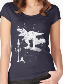 Playtime Dinosaur - White Women's Fitted Scoop T-Shirt