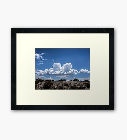 View from the road of amazing clouds Framed Print