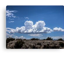 View from the road of amazing clouds Canvas Print