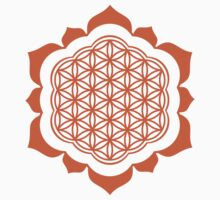 Flower of life - Lotus Flower, sacred geometry, Metatrons cube Kids Clothes