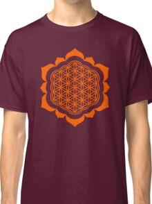 Flower of life - Lotus Flower, sacred geometry, Metatrons cube Classic T-Shirt