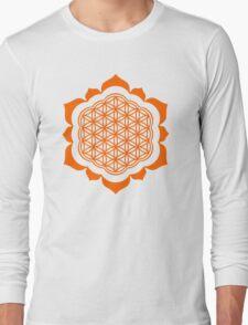 Flower of life - Lotus Flower, sacred geometry, Metatrons cube Long Sleeve T-Shirt