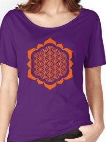 Flower of life - Lotus Flower, sacred geometry, Metatrons cube Women's Relaxed Fit T-Shirt