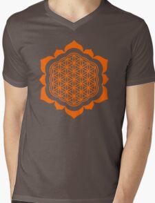 Flower of life - Lotus Flower, sacred geometry, Metatrons cube Mens V-Neck T-Shirt
