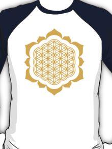 Flower of life - Lotus Flower, sacred geometry, Metatrons cube T-Shirt