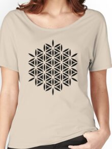Flower of life, sacred geometry, Metatrons cube Women's Relaxed Fit T-Shirt
