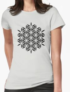 Flower of life, sacred geometry, Metatrons cube Womens Fitted T-Shirt
