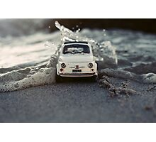 FIAT in the surf Photographic Print