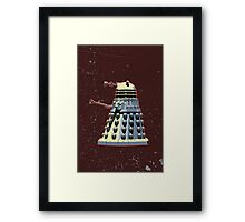 Vintage Look Doctor Who Dalek Graphic Framed Print