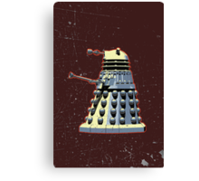 Vintage Look Doctor Who Dalek Graphic Canvas Print