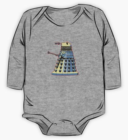 Vintage Look Doctor Who Dalek Graphic One Piece - Long Sleeve