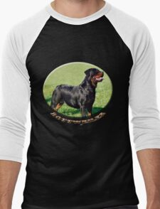 Rottweiler  Men's Baseball ¾ T-Shirt