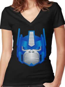 Optimus Primate Women's Fitted V-Neck T-Shirt