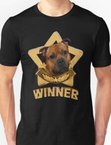Staffordshire Bull Terrier WINNER Unisex T-Shirt