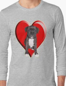 Staffy puppy Long Sleeve T-Shirt