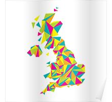 Abstract United Kingdom Bright Earth Poster