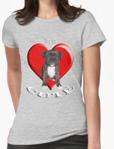 Stafordshire Bull Terrier Womens Fitted T-Shirt