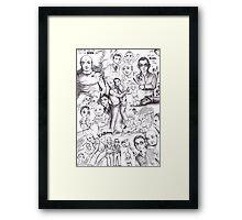 Lost - John Locke and Benjamin Linus Framed Print