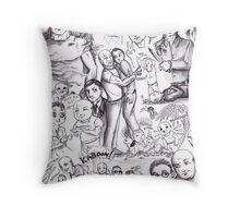 Lost - John Locke and Benjamin Linus Throw Pillow