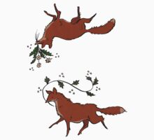 Floral foxes by tanaudel