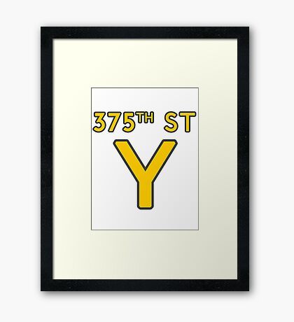 375th Street Y - Royal Tenenbaums Tshirt Framed Print