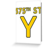 375th Street Y - Royal Tenenbaums Tshirt Greeting Card