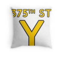 375th Street Y - Royal Tenenbaums Tshirt Throw Pillow