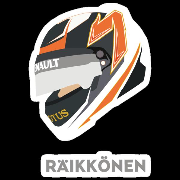 Kimi Räikkönen Helmet Design 2013 Season by Melissa Conlon