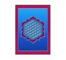 Flower of life, sacred geometry, Metatrons cube, symbol healing & balance   Art Print