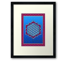 Flower of life, sacred geometry, Metatrons cube, symbol healing & balance   Framed Print