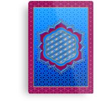 Flower of life, sacred geometry, Metatrons cube, symbol healing & balance   Metal Print