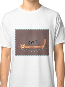 greeting card with a cat and three mouse Classic T-Shirt