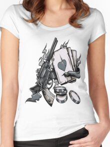 Poker Women's Fitted Scoop T-Shirt