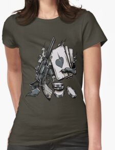 Poker Womens Fitted T-Shirt