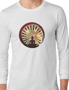 Enso Zen Circle, Meditation, Buddha, Buddhism, Japan, Sun Long Sleeve T-Shirt