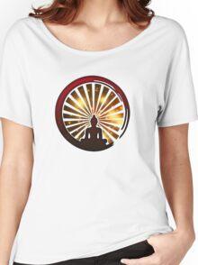 Enso Zen Circle, Meditation, Buddha, Buddhism, Japan, Sun Women's Relaxed Fit T-Shirt