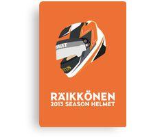 Kimi Räikkönen Helmet Design 2013 Season Canvas Print