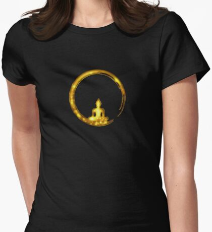 Enso Zen Circle of Enlightenment,  Meditation, Buddha, Buddhism, Japan Womens Fitted T-Shirt