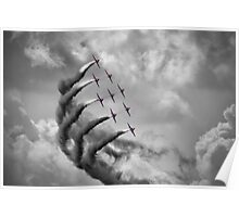 The Red Arrows - Moody Sky - Dunsfold 2013 Poster