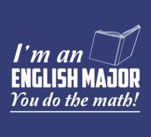 I'm an English major. You do the math by trends