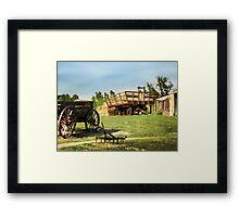 Hay Harvest Tools Framed Print